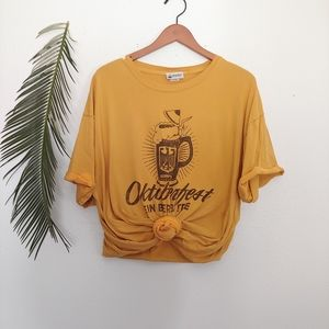 Disneyworld Oktoberfest Mustard Distressed Tee